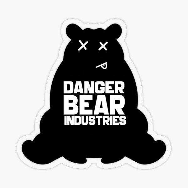 Deadline Bear from Danger Bear Industries Transparent Sticker
