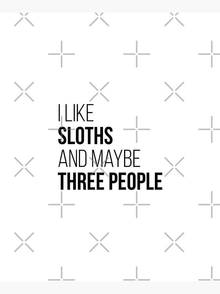 I Like Sloths And Maybe Three People by DuxDesign