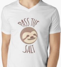 Stoner Sloth - Pass the salt (male) Men's V-Neck T-Shirt