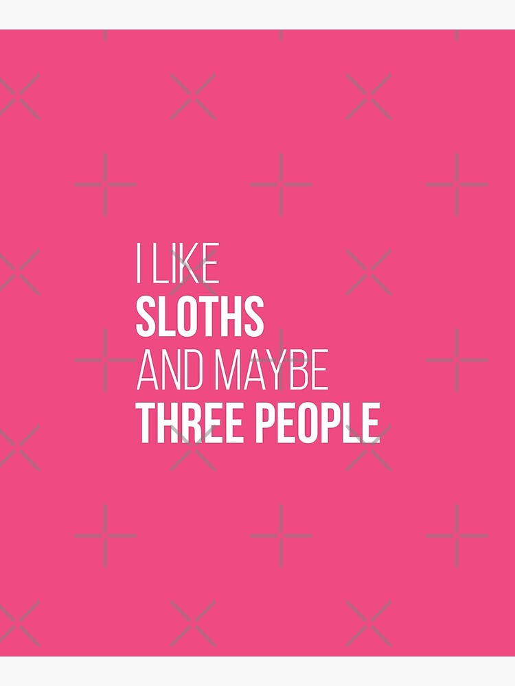 I Like Sloths And Maybe Three People for Women by DuxDesign