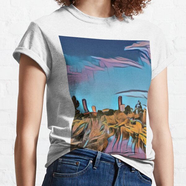 City view from riverbank - Adelaide City - South Australia Classic T-Shirt