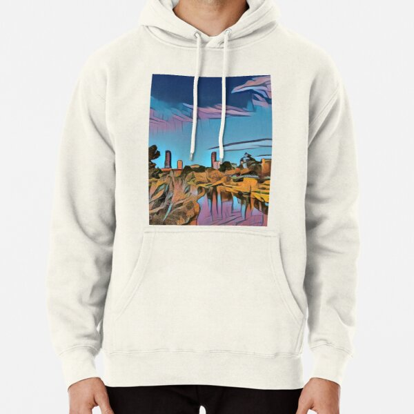 City view from riverbank - Adelaide City - South Australia Pullover Hoodie