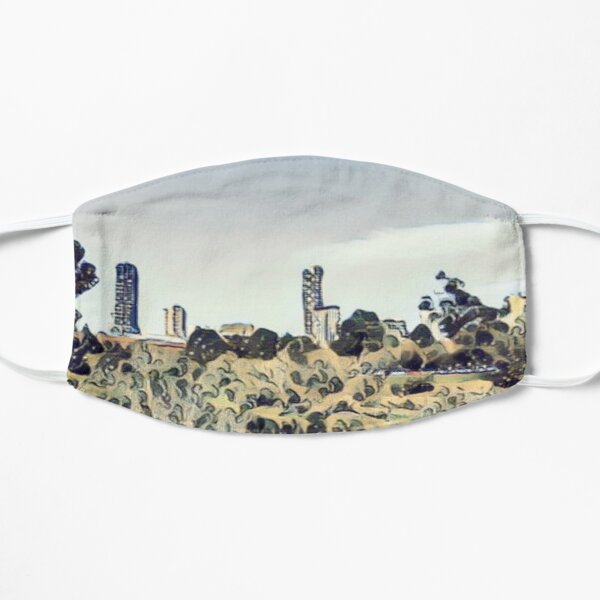 Chilled city view from riverbank - Adelaide City - South Australia Mask