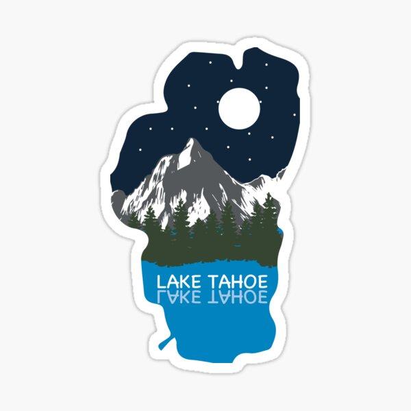 Lake Tahoe California Mountain Outdoor Map Sticker