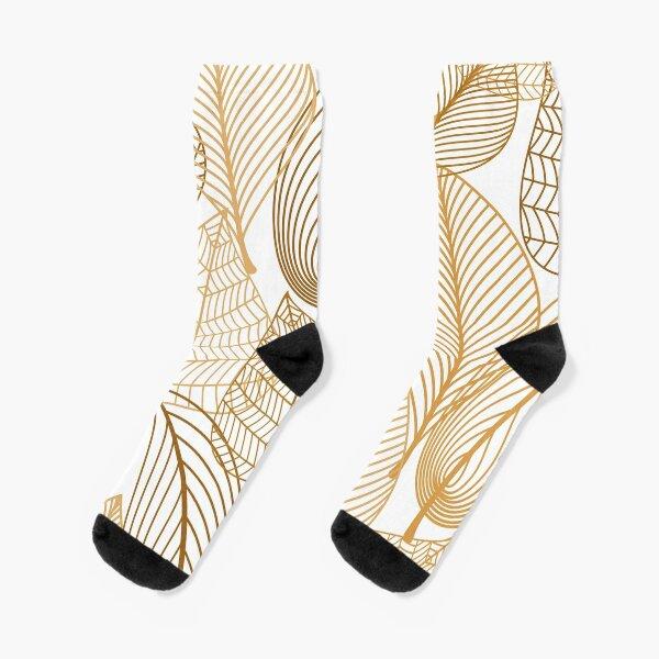 Golden Leaves Socks