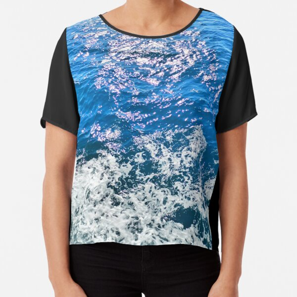 Blue adriatic sea waves in croatia Chiffon Top