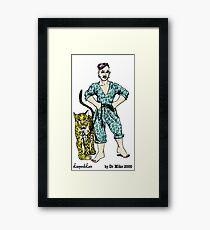 LeopardLass by Dr Mike 2000 Framed Print