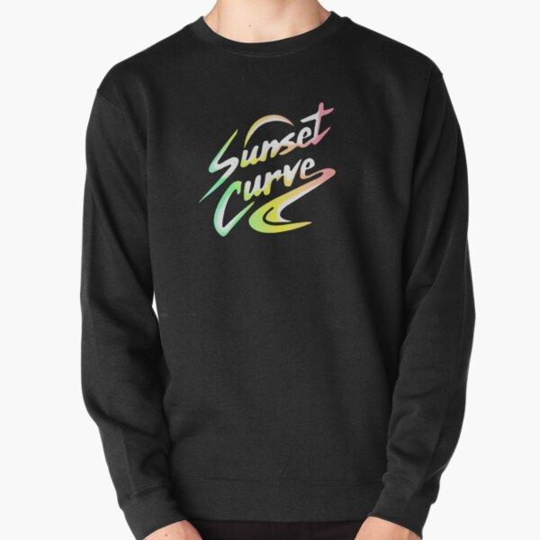 Sunset Curve Logo Faded Rainbow Pullover Sweatshirt