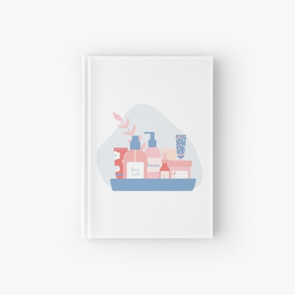 Skincare Products on a Tray Hardcover Journal