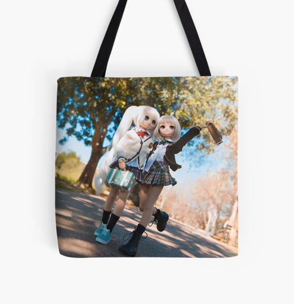 School is over! · Nebula & Glitch All Over Print Tote Bag