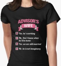 ADVISOR'S WIFE Women's Fitted T-Shirt