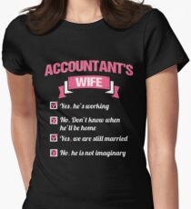 ACCOUNTANT'S WIFE Women's Fitted T-Shirt