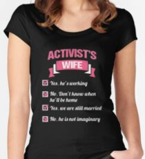 ACTIVIST'S WIFE Women's Fitted Scoop T-Shirt