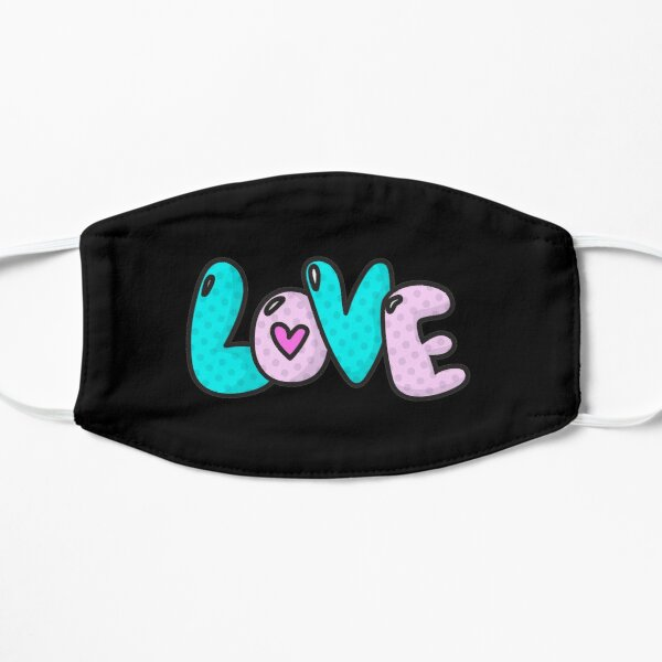 LoVe Cool PopArtWork Flat Mask