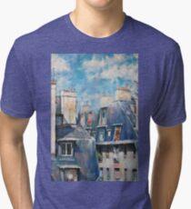 Roofs of Montmartre Tri-blend T-Shirt