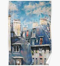 Roofs of Montmartre Poster