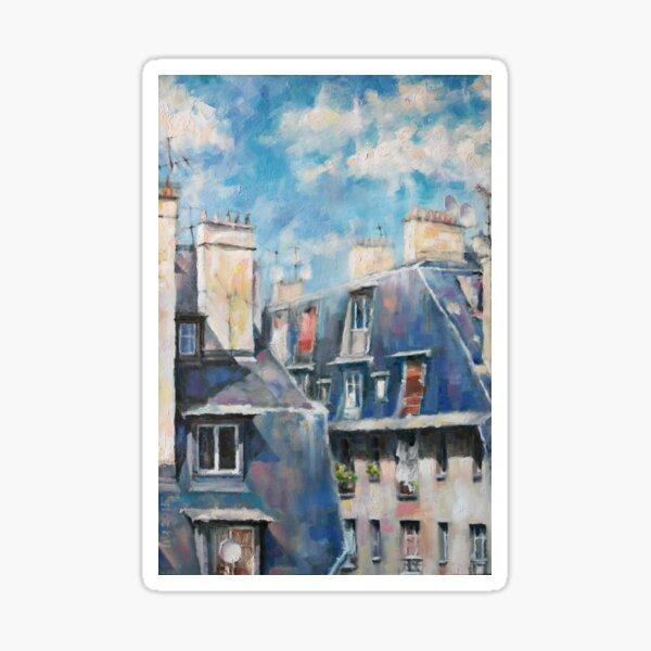 Roofs of Montmartre Sticker