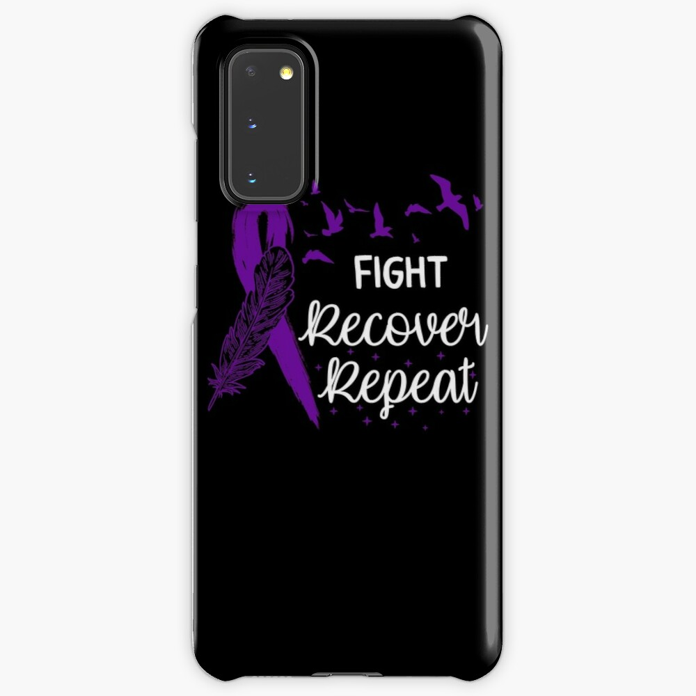 Eating Disorder Recovery Shirt Fight Recover Repeat Ed Warrior Purple Ribbon Awareness Gift Case & Skin for Samsung Galaxy