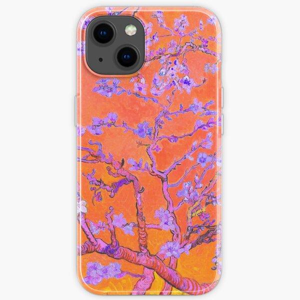 Almond Blossoms - Vincent Van Gogh - Bright Orange Color iPhone Soft Case