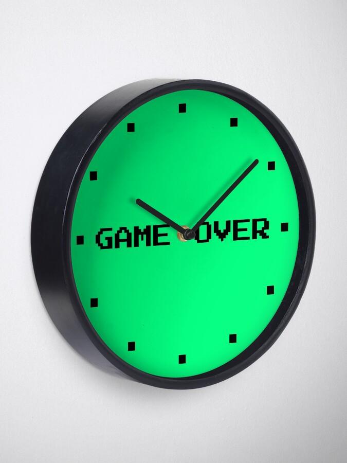 Alternate view of Game Over Retro Gamer Green Clock