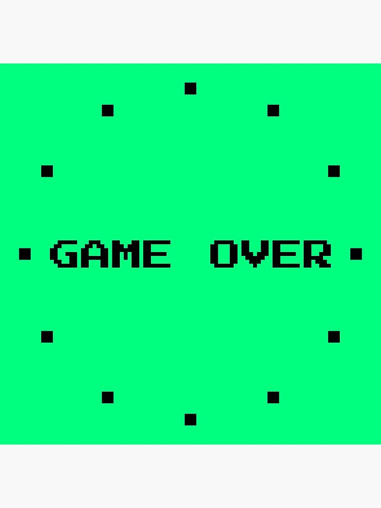 Game Over Retro Gamer Green by QuirkyClock