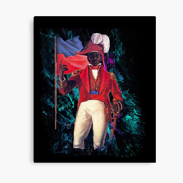 Jean-Jacques Dessalines abstract  Canvas Print
