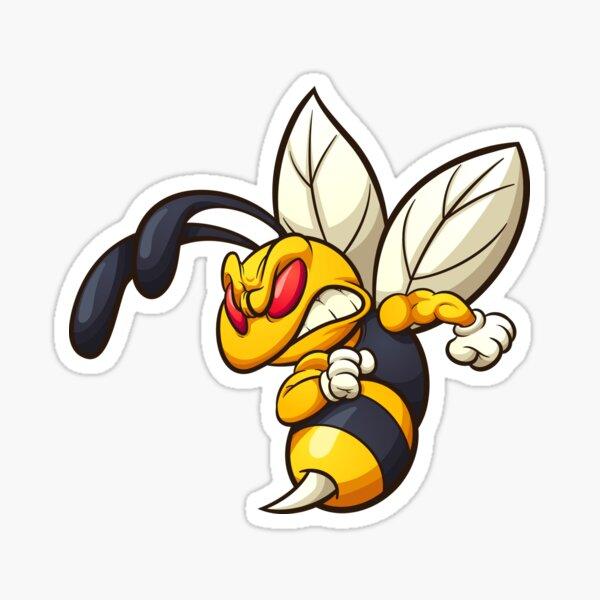 Angry Hornet Sticker