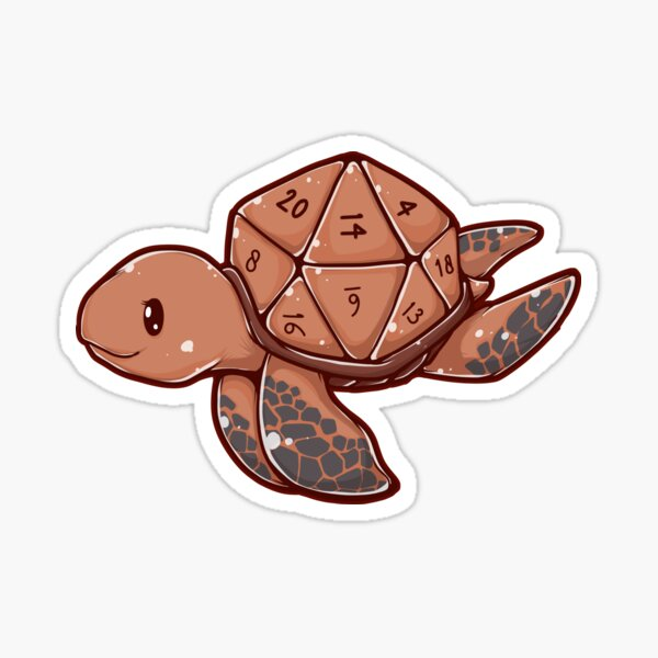 D20 Turtle Sticker