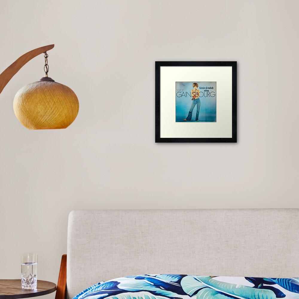 Serge Gainsbourg Framed Art Print