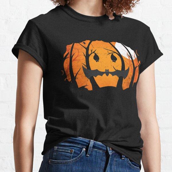 Vintage Spooky Halloween Pumpkin Forest Night Classic T-Shirt