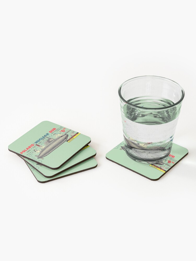 Alternate view of POLARIS NUCLEAR SUB - FOR KIDS! - ADVERT Coasters (Set of 4)