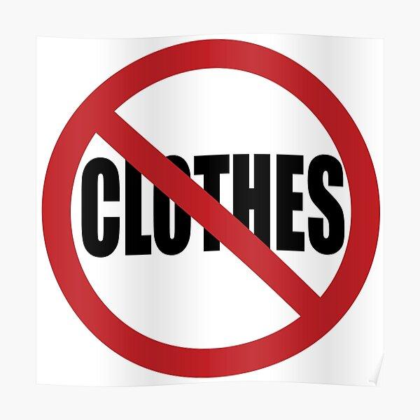 No Clothes Poster