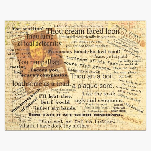 Shakespeare's Best Insults Jigsaw Puzzle