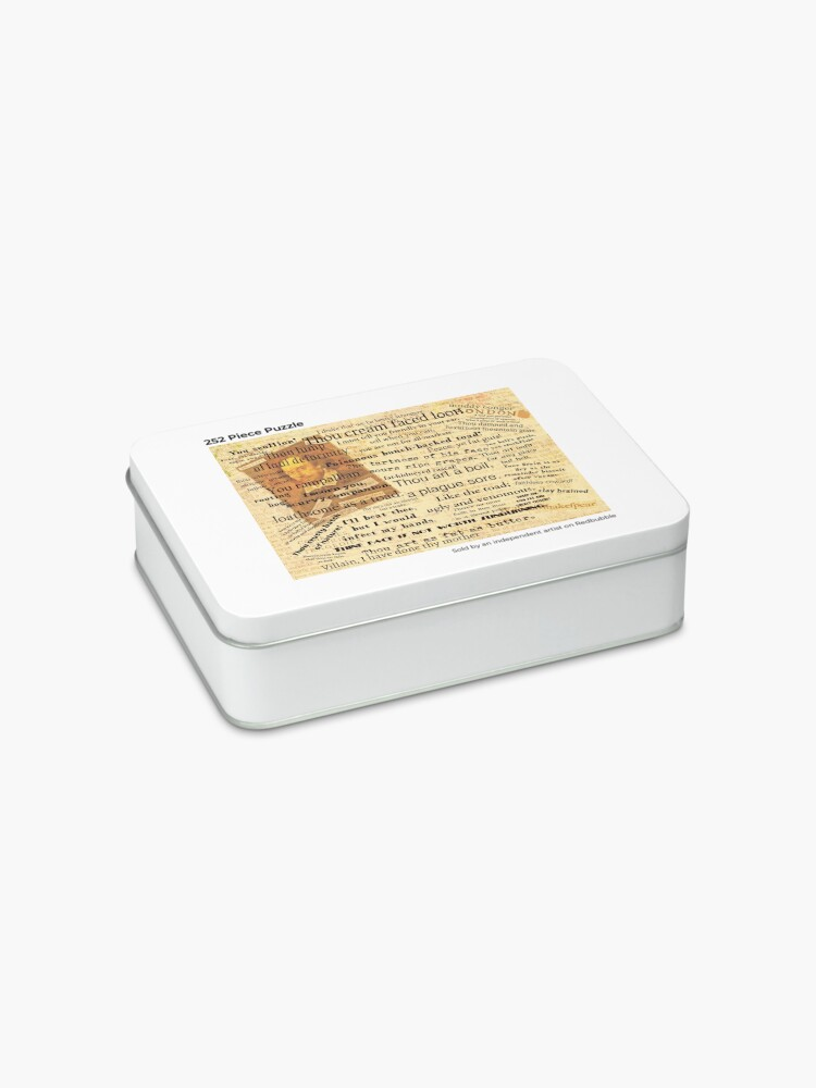 Alternate view of Shakespeare's Best Insults Jigsaw Puzzle