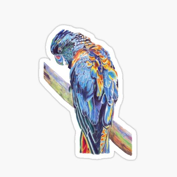 Psychedelic Parrot Australian Cockatoo Sticker