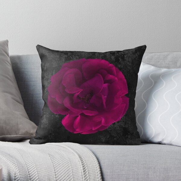Gorgeous Fuchsia Rose Throw Pillow
