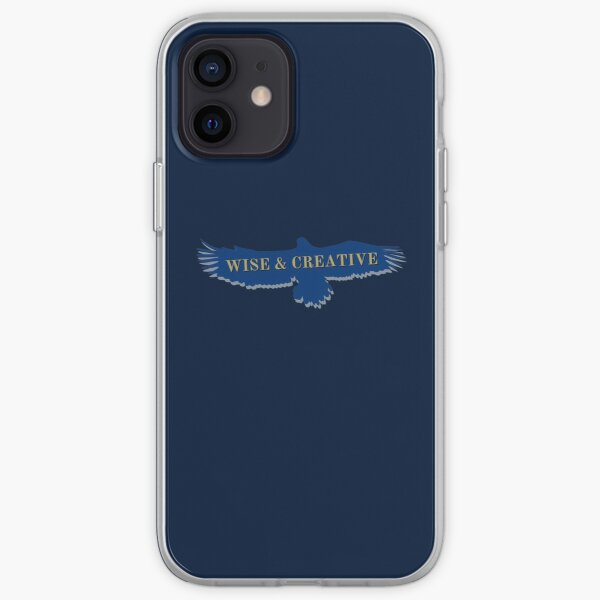 Blue Eagle Raven Flying Wise and Creative iPhone Soft Case
