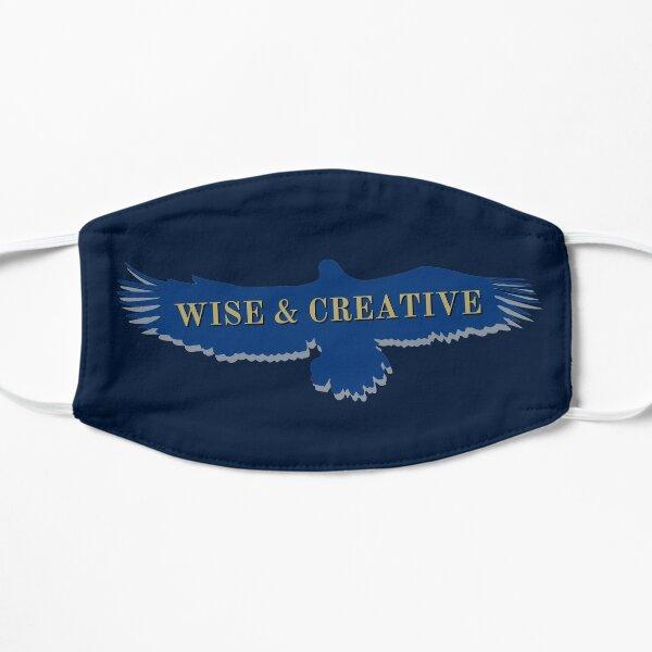Blue Eagle Raven volando sabio y creativo Mascarilla plana