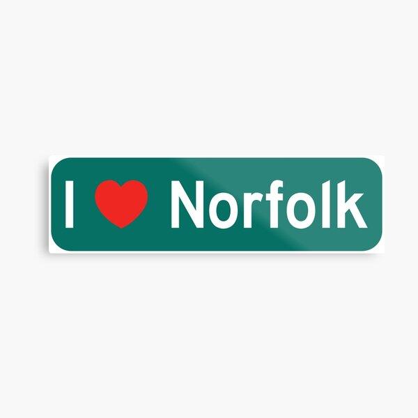 I Love Norfolk! Metal Print