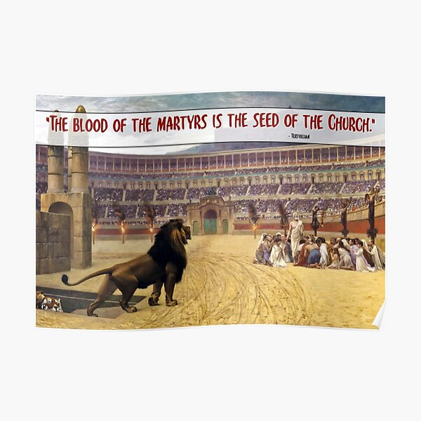 The Blood of the Martyrs - Red font Poster