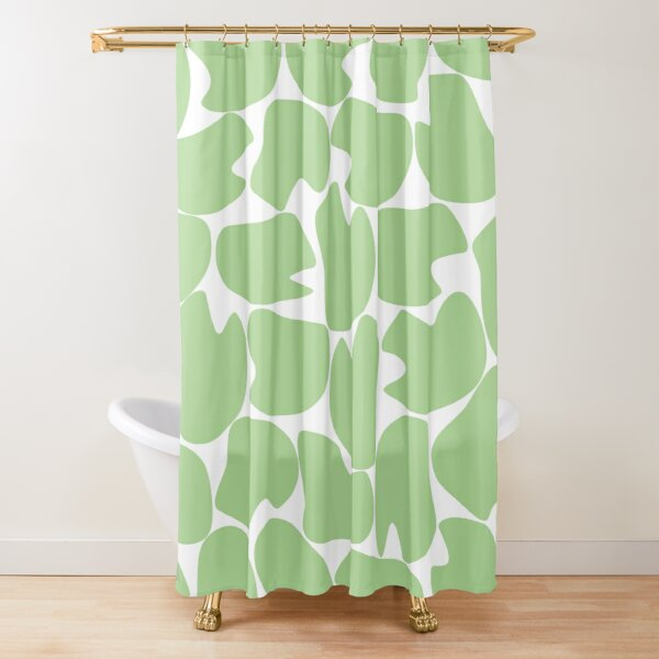 Camo's Cousin (linden green and white) Shower Curtain