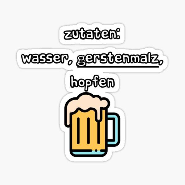 Beer Reinheitsgebot Sticker