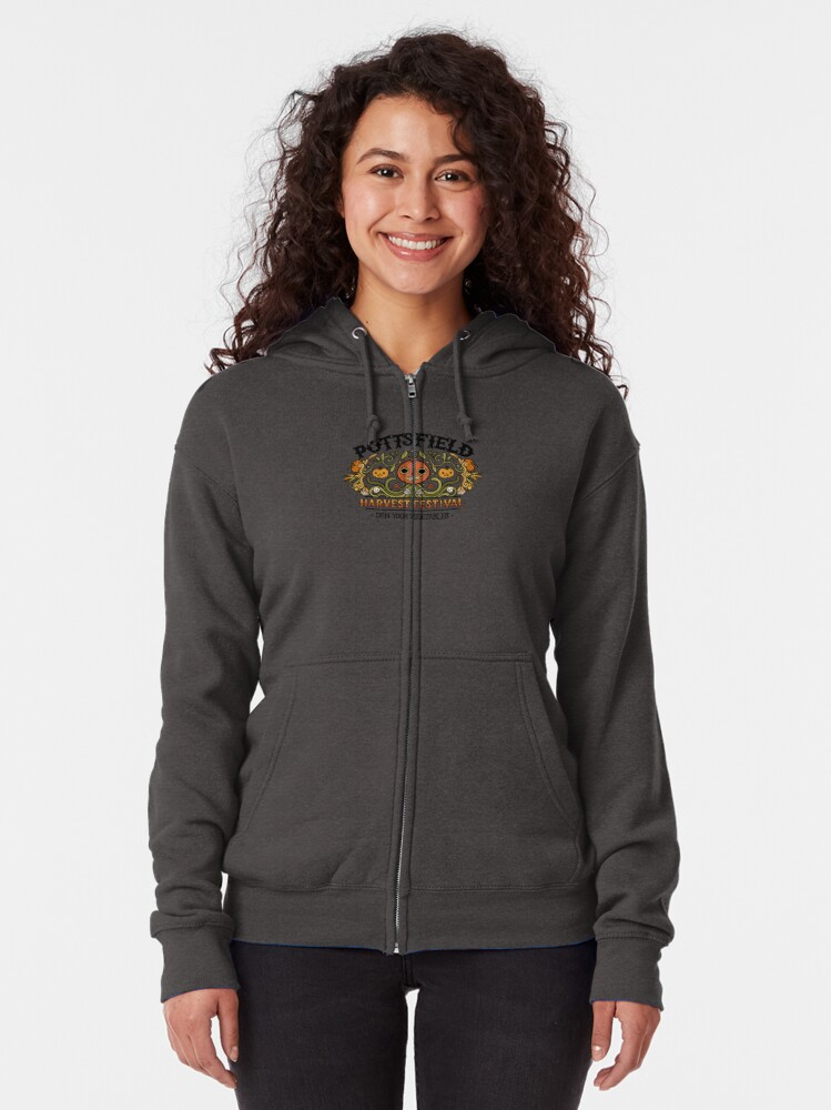 Alternate view of Pottsfield Harvest Festival Zipped Hoodie
