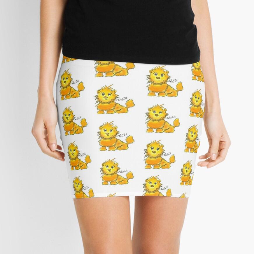 WatZit Enchanted Mythical Creature Yellow Mini Skirt