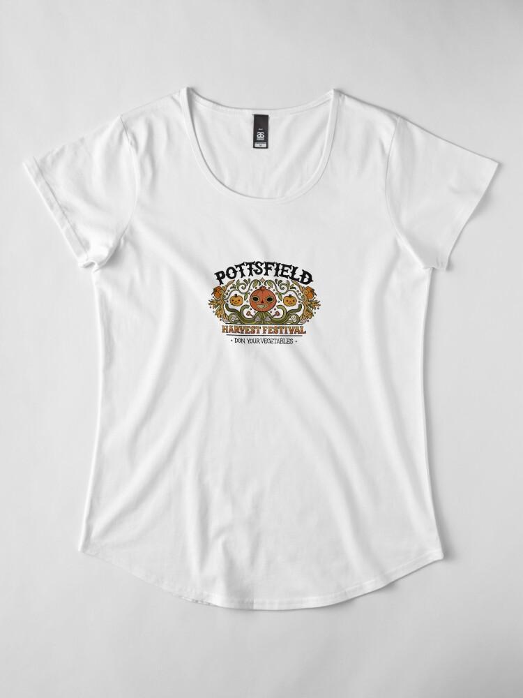 Alternate view of Pottsfield Harvest Festival Premium Scoop T-Shirt