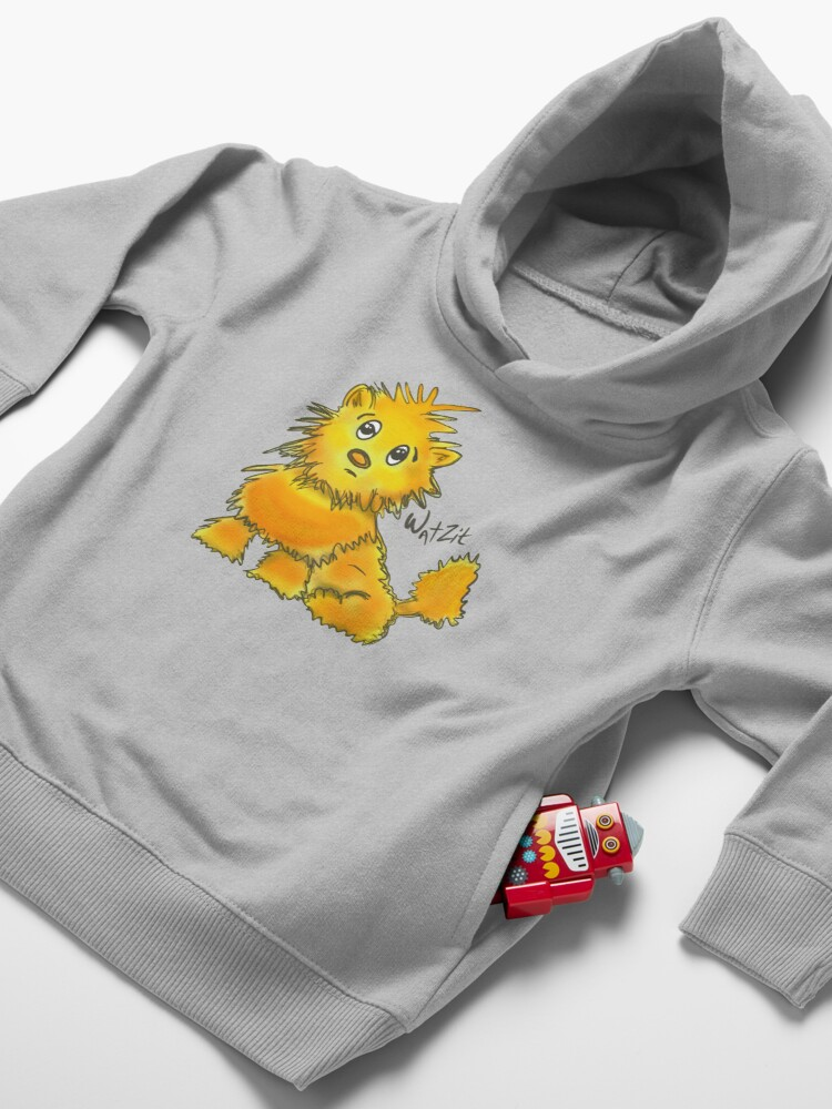 Alternate view of WatZit Enchanted Mythical Creature Yellow Toddler Pullover Hoodie