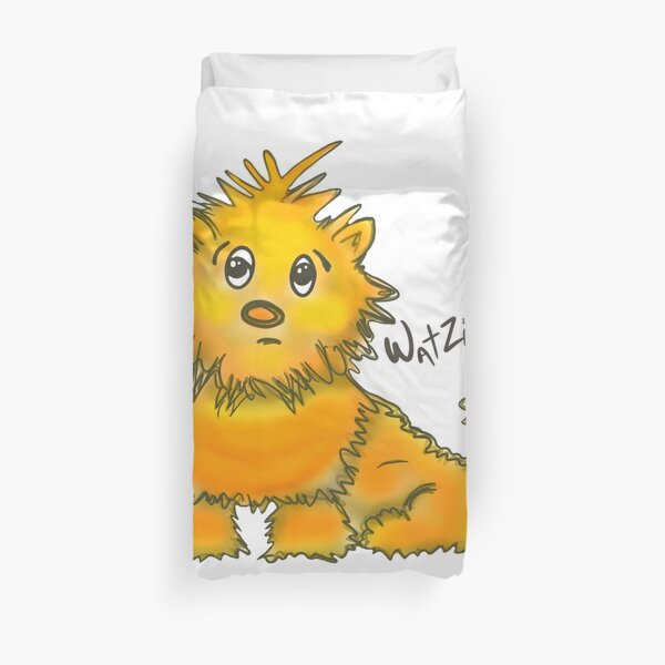 WatZit Enchanted Mythical Creature Yellow Duvet Cover