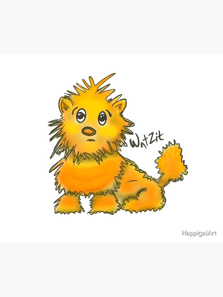 WatZit Enchanted Mythical Creature Yellow by HappigalArt