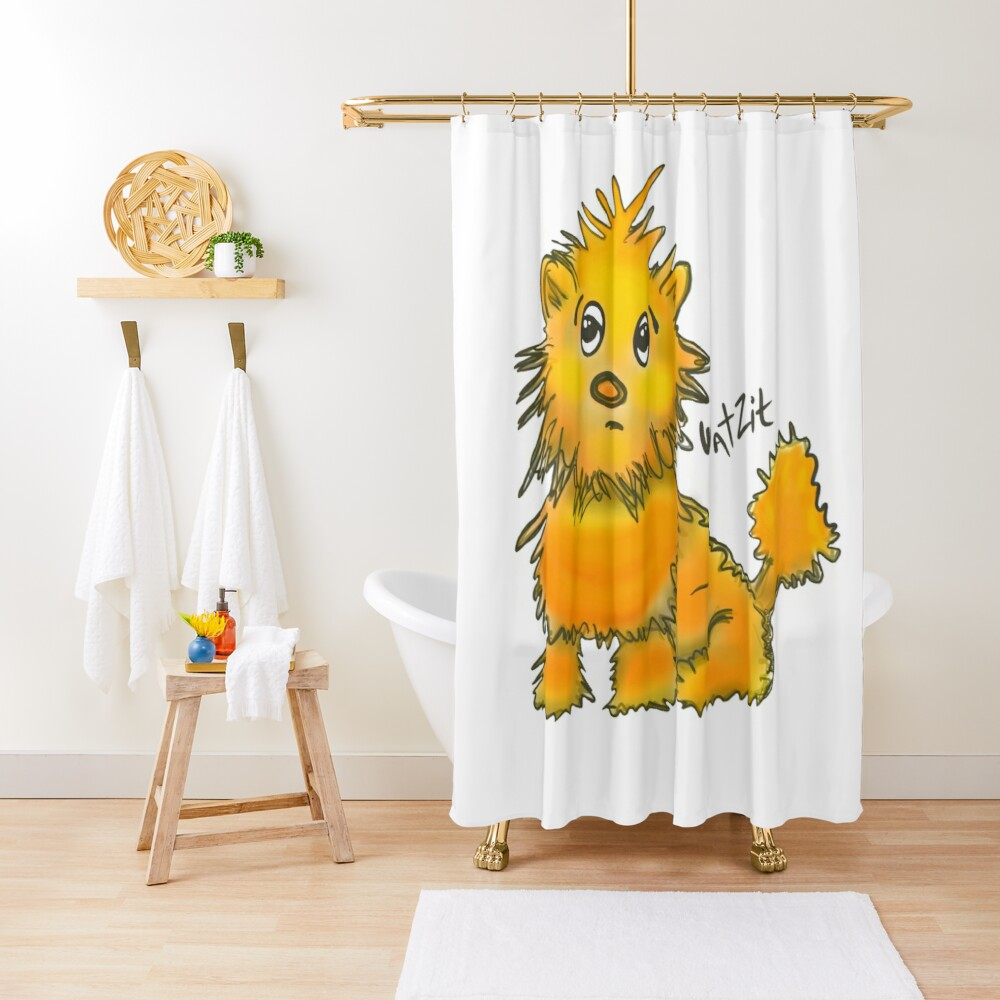 WatZit Enchanted Mythical Creature Yellow Shower Curtain