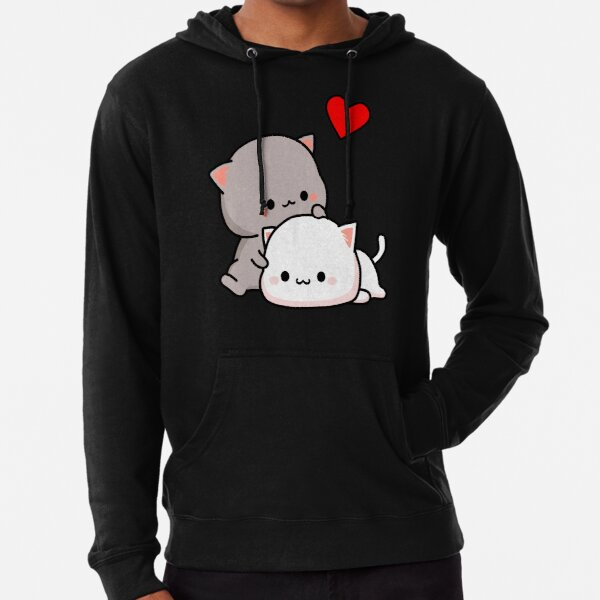 Peach Cat and Goma Love Never Fails Lightweight Hoodie
